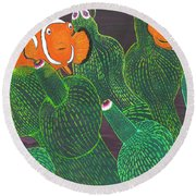 November Round Beach Towel