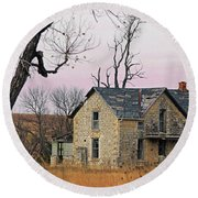 November Remnant Round Beach Towel