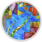 November State Of Mind Round Beach Towel by Polly Castor