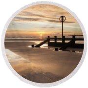 November Sunrise - Portrait Round Beach Towel