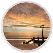 November Sunrise Round Beach Towel