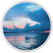 Now The Day Is Over Round Beach Towel