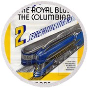 Now The Royal Blue The Columbian Round Beach Towel
