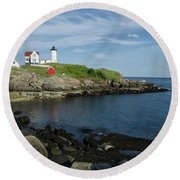 Nubble Point Round Beach Towel