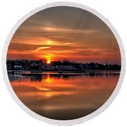Nuclear Morning Round Beach Towel