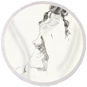 Nude 9 Round Beach Towel