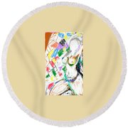 Nude Female Round Beach Towel