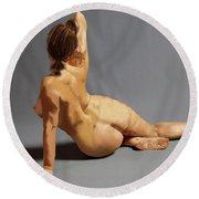 Nude Round Beach Towel
