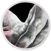 Nude Male Composition  Round Beach Towel