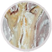 Nude Round Beach Towel by Michal Boubin