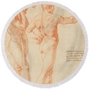 Nude Studies Round Beach Towel