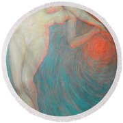 Nude With Orbit Round Beach Towel