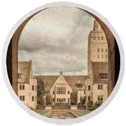 Round Beach Towel featuring the photograph Oxford, England - Nuffield College by Mark Forte