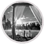 Round Beach Towel featuring the photograph Nuptials by Julia Hassett