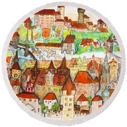 Nuremberg Germany Round Beach Towel