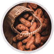 Nuts Still Life Food Photography Round Beach Towel