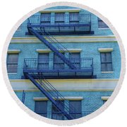 Round Beach Towel featuring the photograph Ny 1936 by Marie Leslie