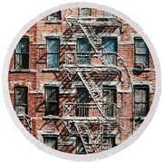 N Y C Apartment On 9th Ave Round Beach Towel