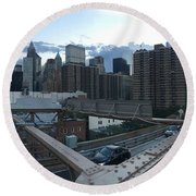 NYC Round Beach Towel by Ashley Torres