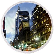 Nyc Fifth Ave Round Beach Towel