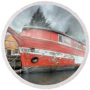 Nyhavn Enchanting Character Round Beach Towel