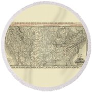 O And M Map Round Beach Towel