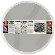 O And M Timetable Round Beach Towel
