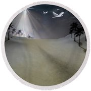 O Little Town Round Beach Towel by Brian Wallace