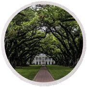 Oak Alley Plantation, Vacherie, Louisiana Round Beach Towel