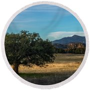 Oak And Cuyamaca Round Beach Towel