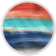 Oak Creek #27 Southwest Landscape Original Fine Art Acrylic On Canvas Round Beach Towel