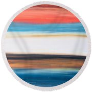 Oak Creek #29 Southwest Landscape Original Fine Art Acrylic On Canvas Round Beach Towel
