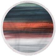 Oak Creek #30 Southwest Landscape Original Fine Art Acrylic On Canvas Round Beach Towel