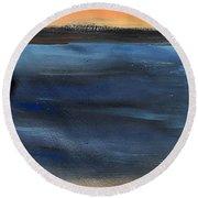 Oak Creek #31 Southwest Landscape Original Fine Art Acrylic On Canvas Round Beach Towel