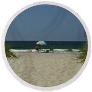 Oak Island Beach Vacancy Round Beach Towel