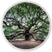 Oak Of The Angels Round Beach Towel