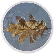 Oak On Ice Round Beach Towel