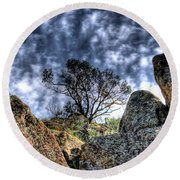 Round Beach Towel featuring the photograph Oak Tree by Jim and Emily Bush