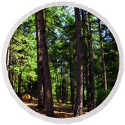 Oakrun Forest Round Beach Towel