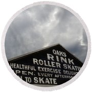 Oaks Skating Rink Round Beach Towel