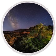 Oasis Milky Way Round Beach Towel