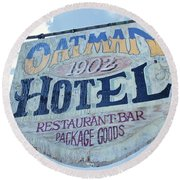 Oatman Hotel Round Beach Towel