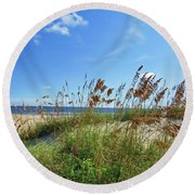 Oats Of The Sea Two Round Beach Towel