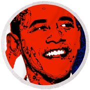Obama Hope Round Beach Towel by Rabi Khan