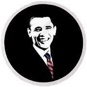 Obama Graphic Round Beach Towel