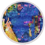 Objective Reality Round Beach Towel