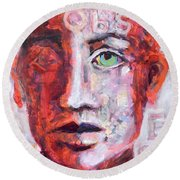 Observe Round Beach Towel by Mary Schiros