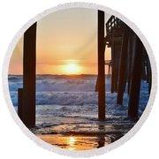 Obx Sunrise 6/18/16 Round Beach Towel