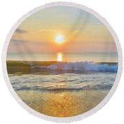 Obx Sunrise 7/22/17 Round Beach Towel