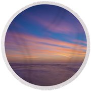 Ocean And Beyond Round Beach Towel